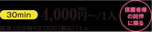 お子さまバギープラン4,000円