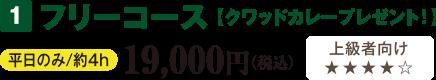フリーコース 【クワッドカレープレゼント!】