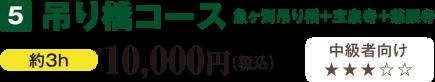 吊り橋コース 魚ヶ渕吊り橋+宝泉寺+慈眼寺